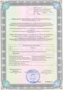 Приложение 1.1 к лицензии